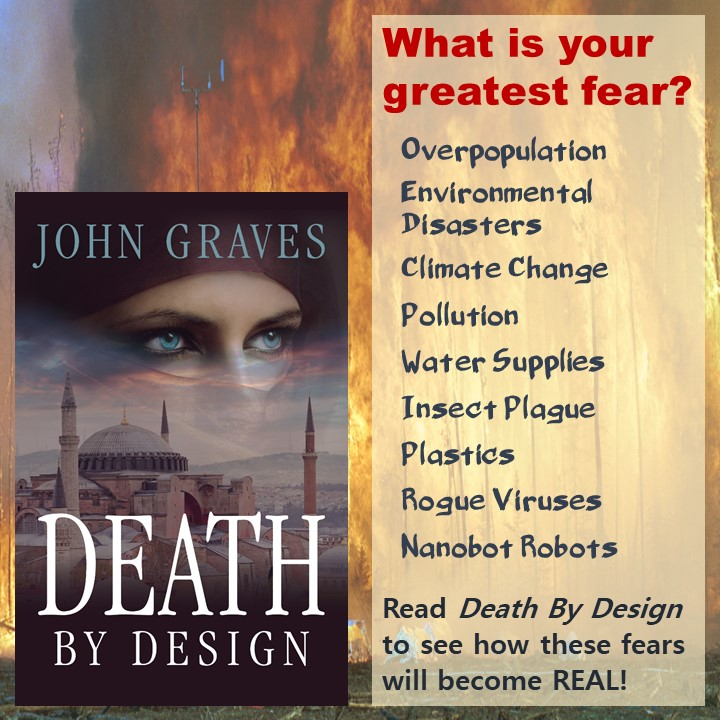 What is your greatest fear? Overpopulation, Environmental Disaster, Climate Change, Pollution, Water Supplies, Insect Plague, Plastics, Rogue Viruses, Nanobot Robots