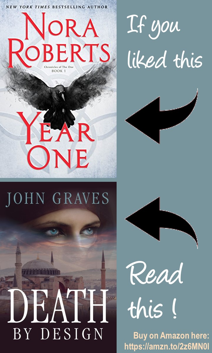 If You Liked the biothriller Year One by Nora Roberts, read Death by Design, the new ecothriller from John Graves, the first book in The Tracker Series #thrillers #biothrillers