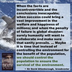 David Attenborough on Population Control